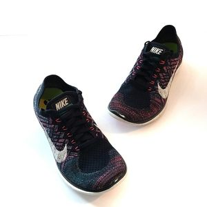 Nike Free 4.0 Flyknit Running Shoes Sneakers Navy